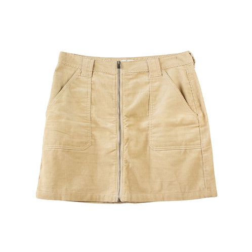 XL | HOLLISTER חצאית מיני קורדרוי