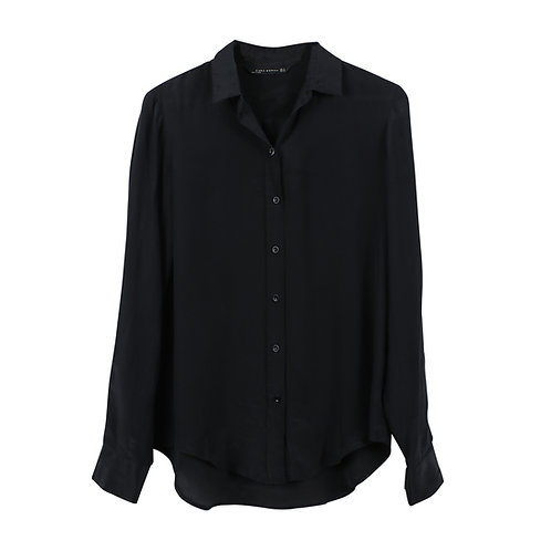 M | ZARA חולצת משי מכופתרת