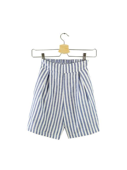 XS מכנסי פסים קצרים