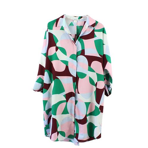 M   MONKI שמלת אוברסייז הדפס