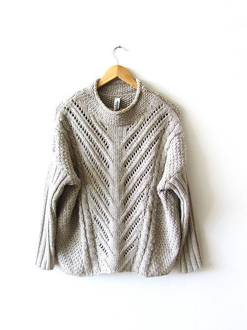 XL סוודר צבע אבן מידה