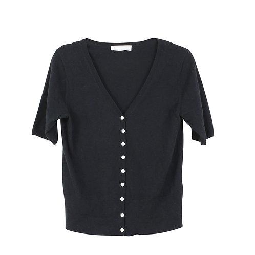 M | EVERLANE חולצת סריג שחורה