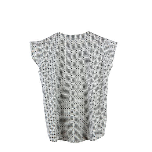 M | MOMA חולצה לבנה עם הדפס כחול
