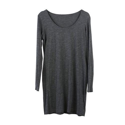 M |  H&M  שמלת טריקו אפורה