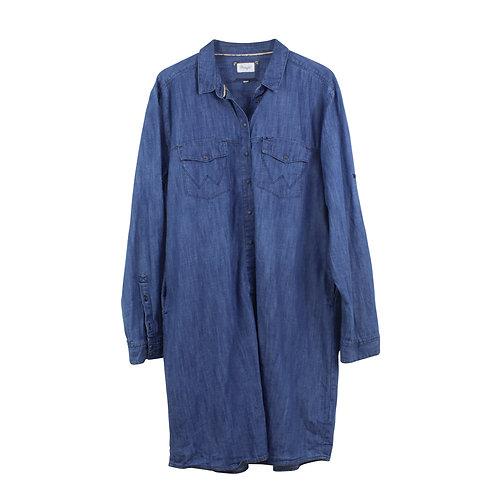 L\XL | Wrangler שמלת ג׳ינס מכופתרת