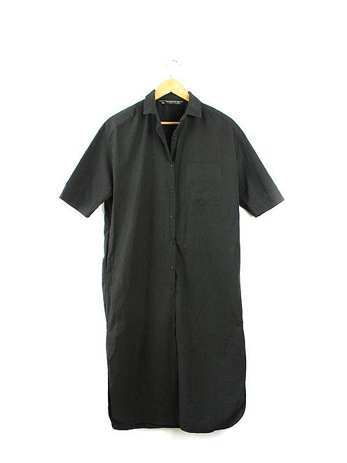 M שמלת חולצה שחורה