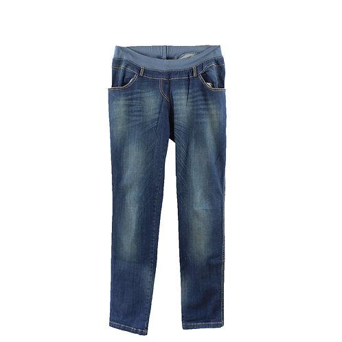 L | 9 fashion ג׳ינס הריון כחול משופשף