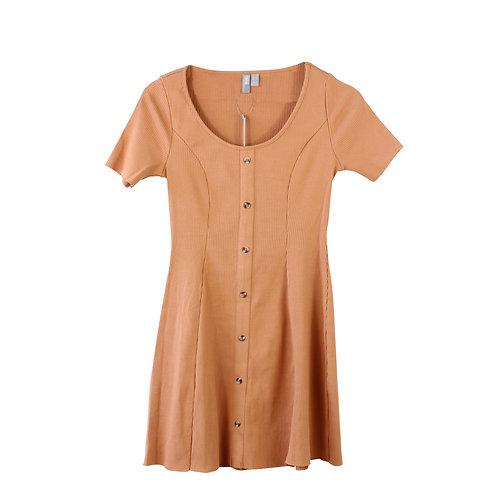 XS | asos שמלת ריב כפתורים