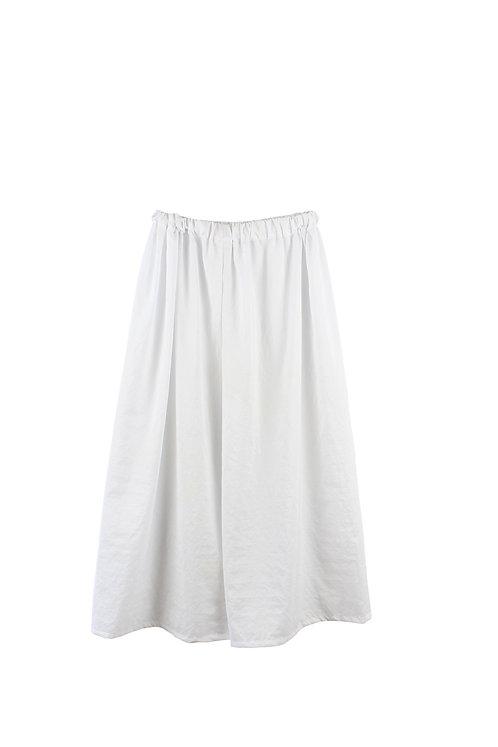 S | מכנסיים רחבים לבנים