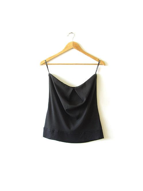 חולצת סטרפלס שחורה מידה 38