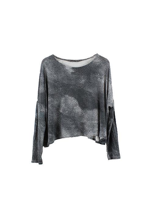 2 | Alef Alef חולצת פרינט אפורה