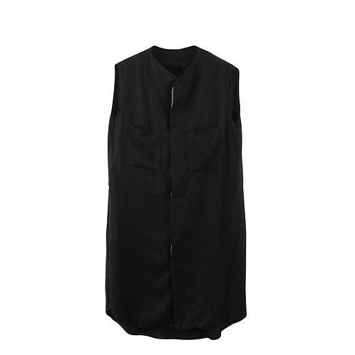M    LAYOU שמלה מכופתרת שחורה