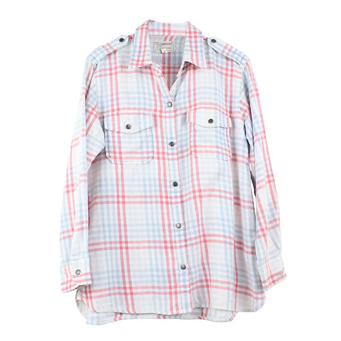 M/L   CURRENT/ELLIOTT The Perfect Plaid Shirt
