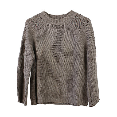 S | MANGO סוודר חום אפור