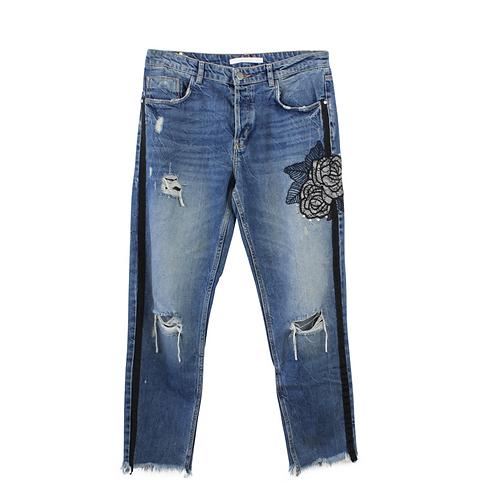 M | ZARA ג׳ינס ווש קרעים