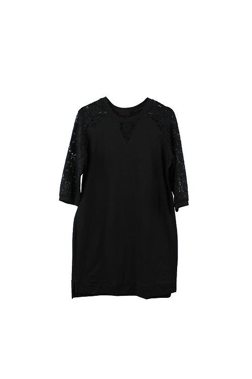 M |  שמלת שרוולי תחרה עלמה