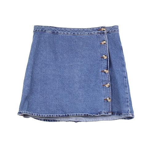L   ASOS חצאית ג׳ינס כפתורים