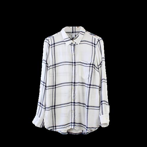 M | OLD NAVY חולצה משובצת עם טיקט