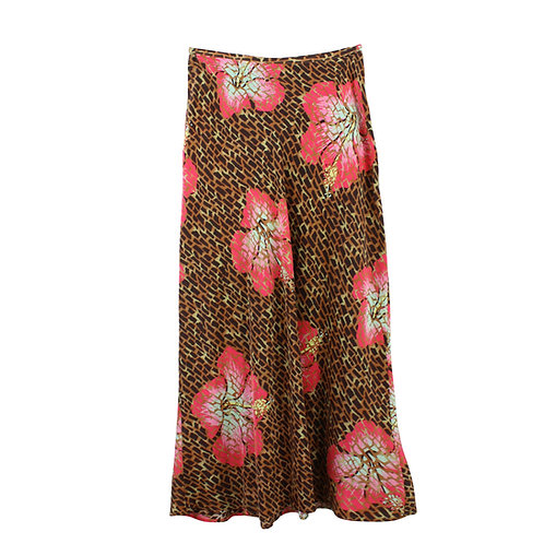 S/M | RIXO חצאית מודפסת משי