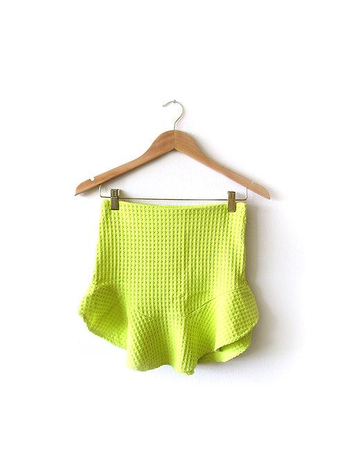S חצאית מיני לימון מידה
