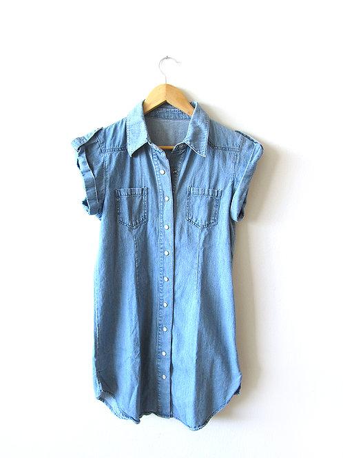 M חולצת ג'ינס/ טוניקה מידה