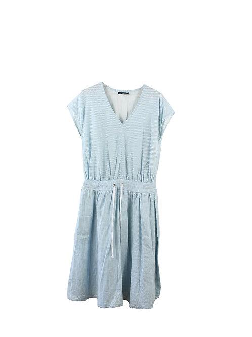 M | SARAH BRAUN  שמלת פסים וכיסים