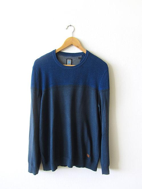 M סוודר דק כחול מידה