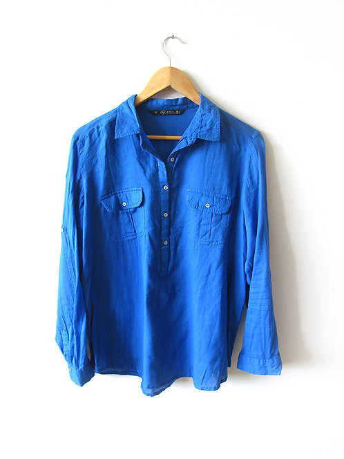L חולצה כחול רויאל מידה