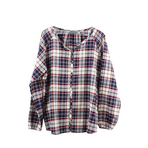 XL | Maya Negri חולצת משבצות מכופתרת
