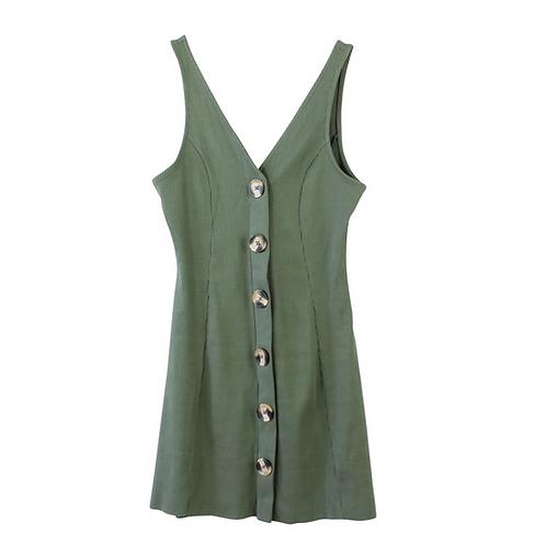 S | asos שמלת מיני כפתורים
