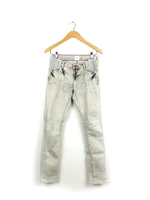 36- ג'ינס הריון סקיני אפור בהיר