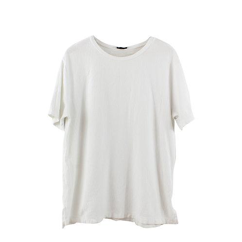 L | ZARA חולצת טקסטורה לבנה