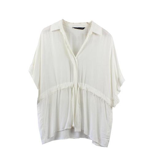 OS | ZARA חולצה מכופתרת לבנה