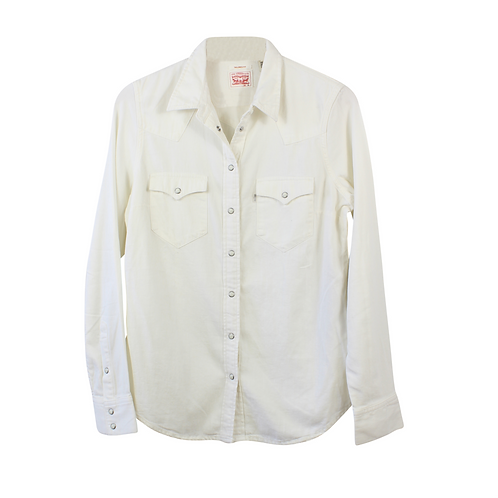 M   LEVIS חולצת ג׳ינס לבנה