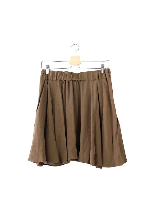 L -American Vintage חצאית קצרה חומה