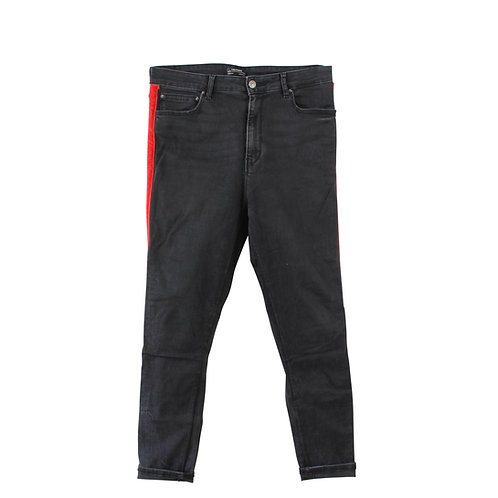 L | ZARA מכנסי ג׳ינס פס קטיפה