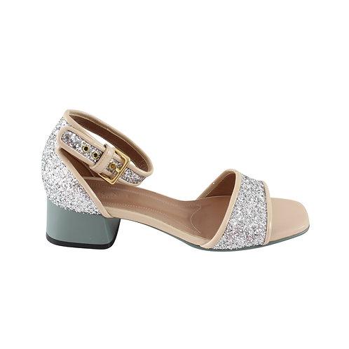36 | MARNI Peep Glitter Sandal
