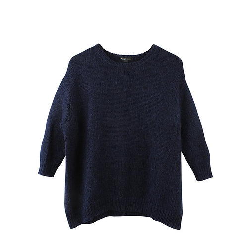 M   MANGO סוודר כחול נייבי