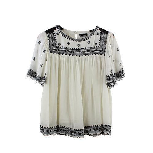 S/M | TOPSHOP חולצת בוהו רקומה