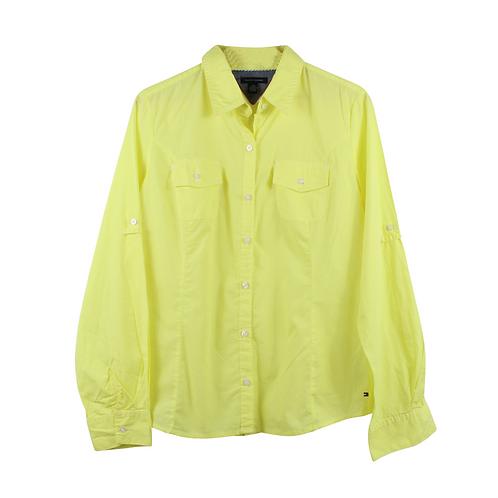 M | TOMMY HILFIGER חולצה מכופתרת צהובה