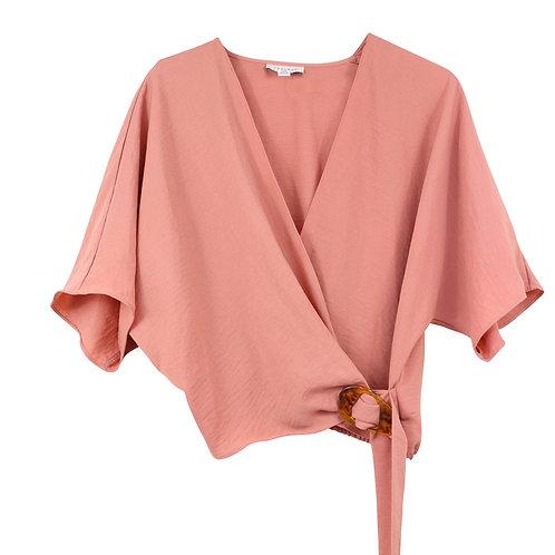 M | TOPSHOP חולצת מעטפת פודרה