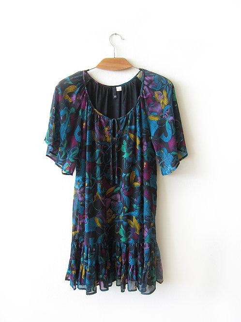 36 שמלה טוניקה פרחונית מידה