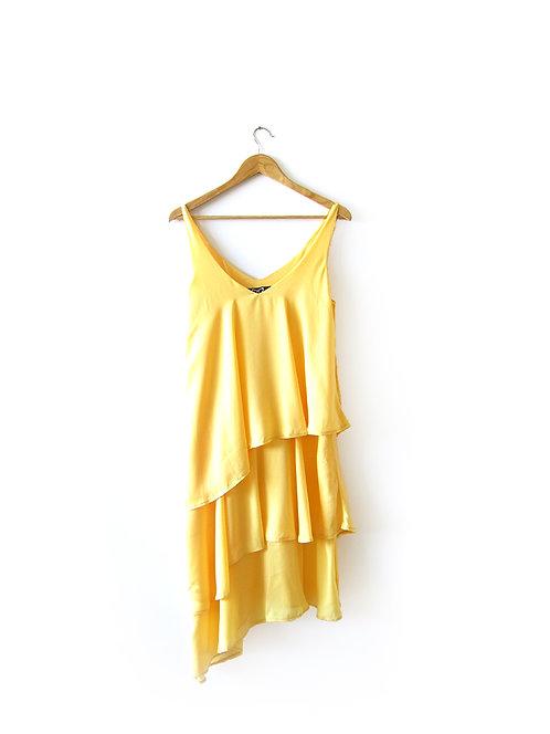 """OS שמלה צהובה"""" דנה סידי"""" מידה"""