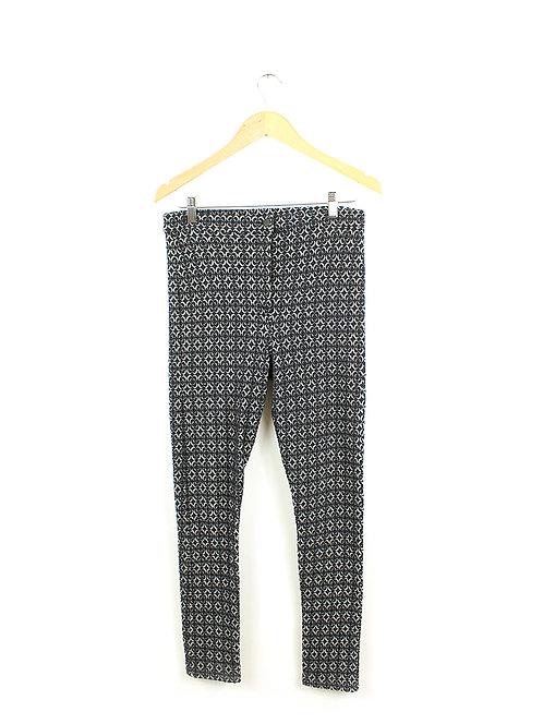 40- מכנסי טייץ שחור לבן