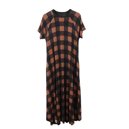 OS | KID A שמלת פרניט משבצות