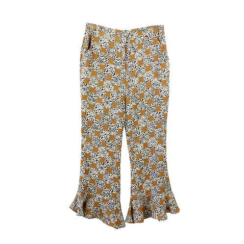 M | TOPSHOP מכנסי פפלום מנומרים