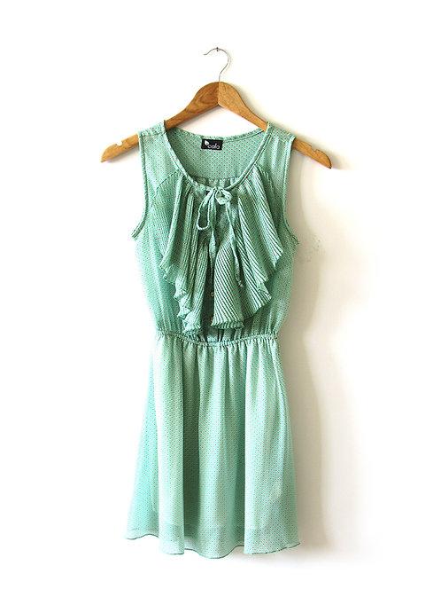 S שמלת קאלה ירקרקה