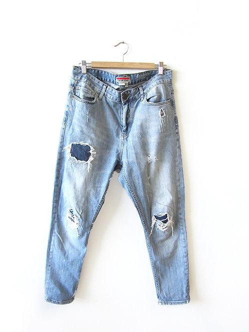 40 ג'ינס קרעים מידה