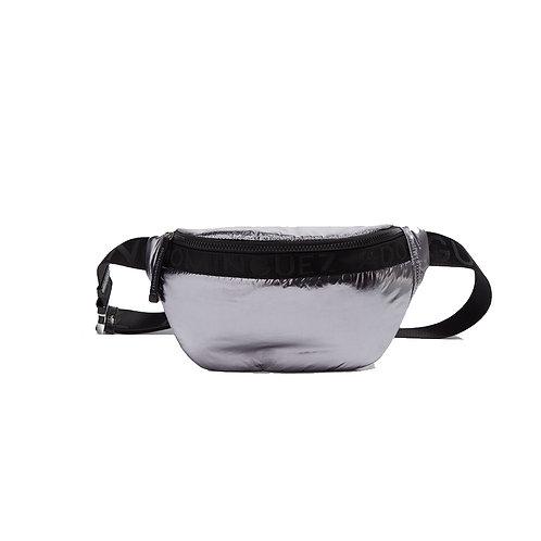 Adolfo Dominguez | Silver Color Nylon Belt Bag