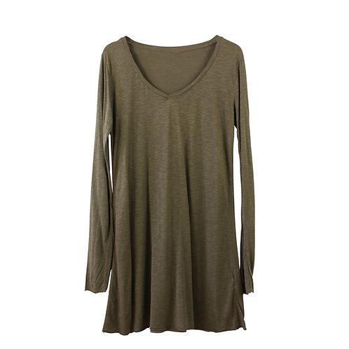 L | American Vintage שמלת/טוניקה חומה